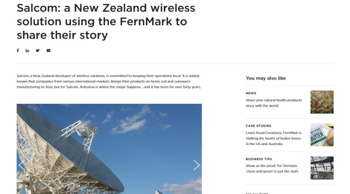 Salcom features in Case Study by NZ Story